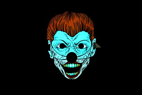 Halloween Mask,Sound Reactive LED Mask Sound Activated Street Dance for Festivals,Party, Halloween,Carnivals,Dance Ball,Masquerades,Cosplay DJ Mask(Clown) ()