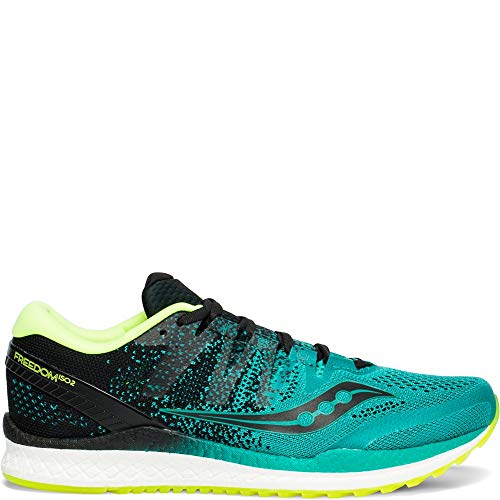 (Saucony Men's Freedom ISO 2 Running Shoe, Teal/Black, 10 M US)