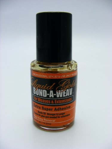 Liquid Gold Bond-A-Weav Hair Extension Adhesive 1Oz Liquid Gold Hair Extensions