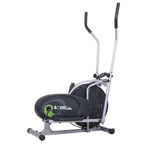 Body Rider Fan Elliptical Trainer with Air Resistance System, Adjustable Levels and Easy Computer BR1830 (Air Elliptical Exerpeutic)