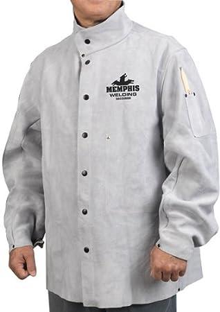 MCR Safety MCR Safety 38030MWXXL 30-Pulgadas Memphis chaqueta de soldadura de cuero de vaca dividida, gris, 2X-Large: Amazon.es: Bricolaje y herramientas
