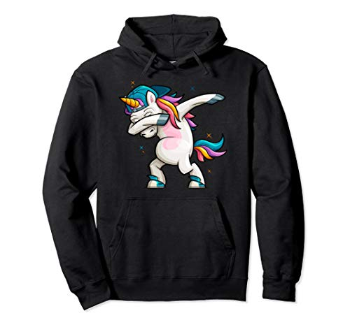 Cartoon Unicorn Dabbing Pullover Hoodie (Best Dance Moves Ever Hip Hop)