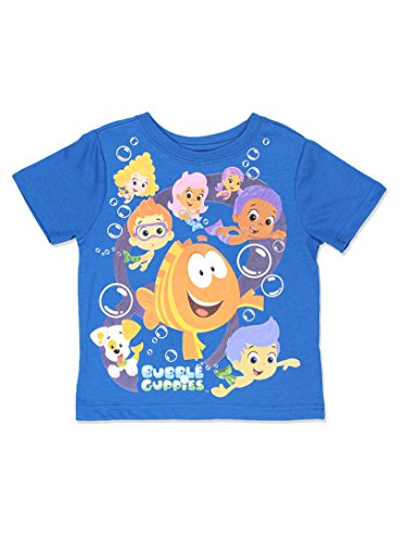Bubble Guppies Boys Short Sleeve Tee (4T, Blue)