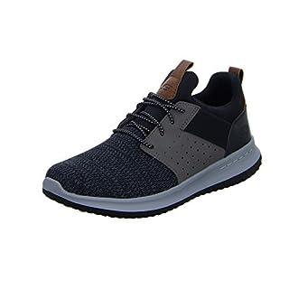 Skechers Men's Classic Fit-Delson-Camden Sneaker,black/Grey,8 M US