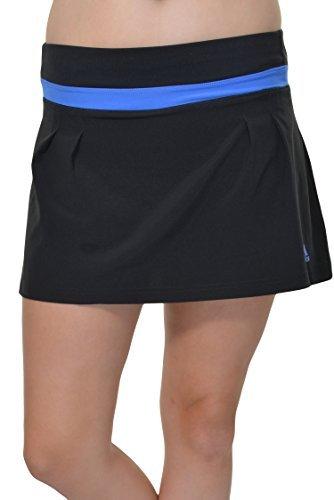 Adidas Climalite Pleated ALine Athletic Skort (Black/Vivid Blue, Small) by adidas