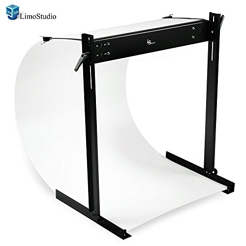 Double Light Led (LimoStudio LED E-Commerce Business Product Photo Shooting Table Stand Kit with Double LED Light Tube 6500K, Photo Studio, AGG1571)