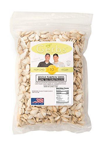 Lightly-Sea-Salted-Pumpkin-Seeds-In-Shell-by-Gerbs-4-LBS-Top-12-Food-Allergy-Free-Non-GMO-Vegan-Kosher–Premium-Whole-Roasted-Pepitas–COG-USA