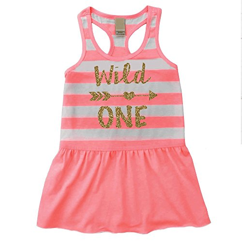 Girl First Birthday Outfit, Wild One Summer Tank Dress, 1st Birthday Girl (18 Months)