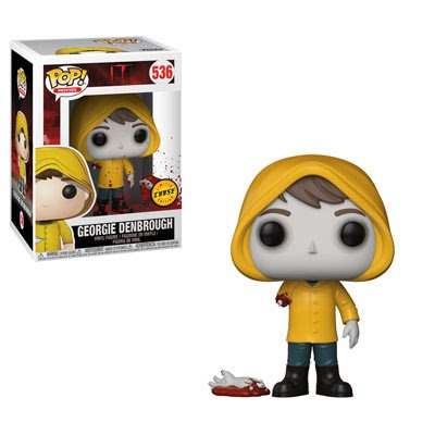 (Funko Pop! Movies: Stephen King's It - Bloody Arm Georgie Denbrough CHASE Variant Limited Edition Vinyl Figure (Bundled with Pop Box Protector Case) )