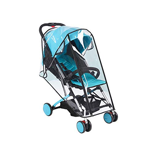 Universal Baby Stroller Rain Cover Weather Shield Waterproof Umbrella Plastic Stroller Wind Dust Shield Cover for Strollers, Clear by kensonic