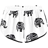 SweatyRocks Women's Casual Print Hot Pants Summer Beach Shorts