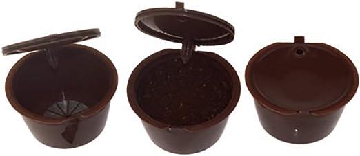 Ouken 1pc recargables Pod taza café cápsula de acero inoxidable filtro para Dolce Gusto - cafetera: Amazon.es: Hogar