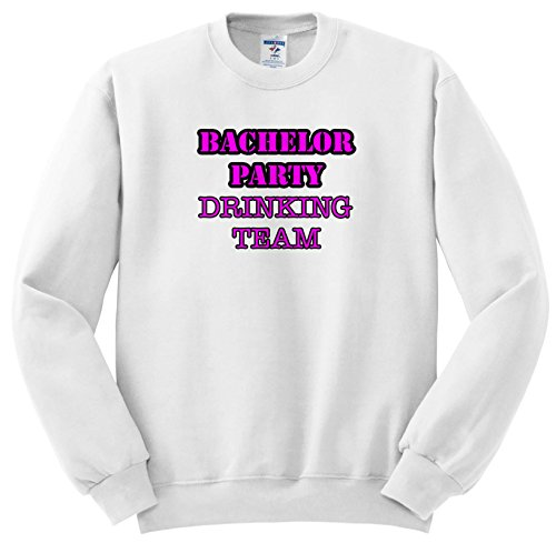 Stag,Bachelor Party - Bachelor Party Drinking Team Pink - Sweatshirts - Adult Sweatshirt 4XL (SS_261063_7) ()