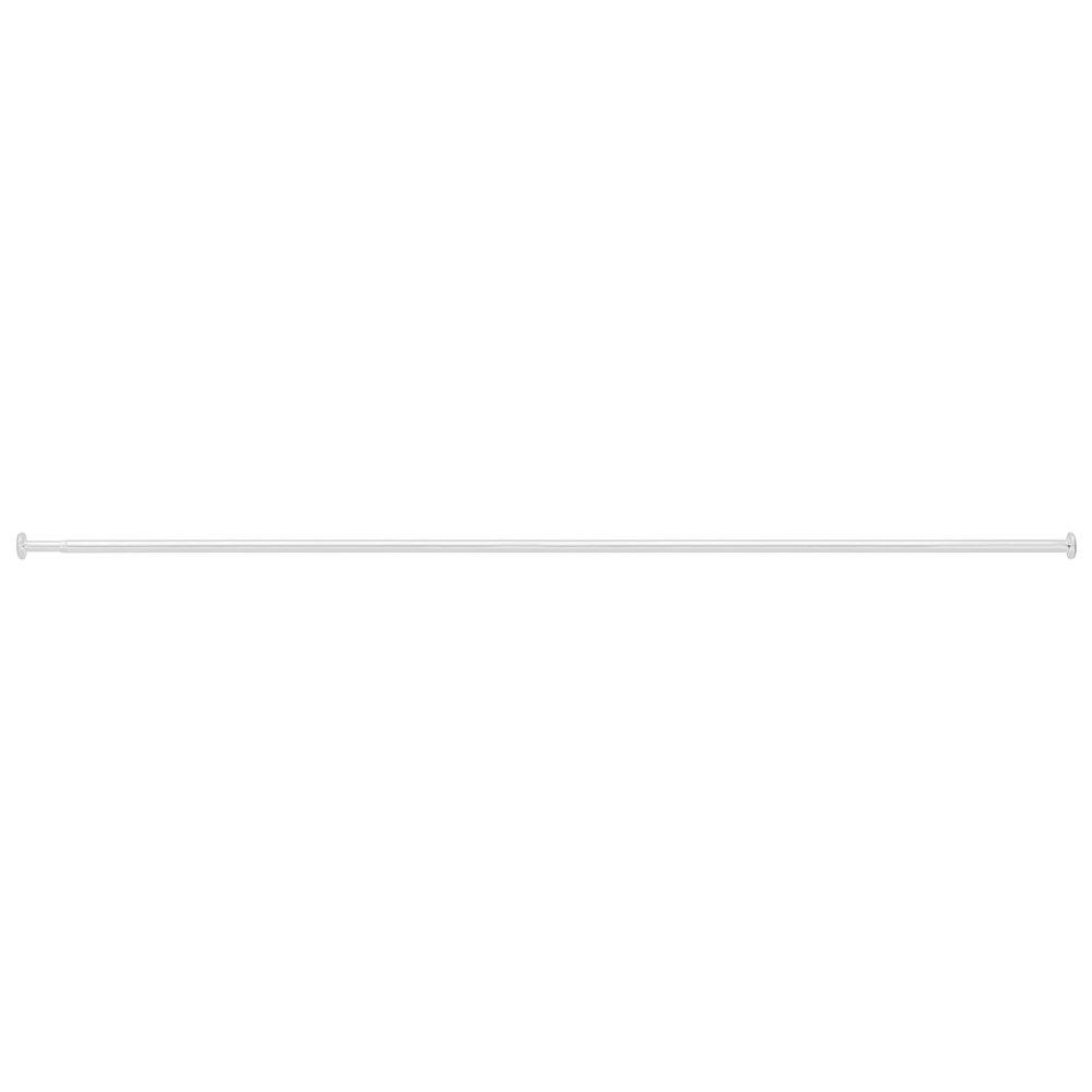InterDesign 132 - 228.5 cm Forma Curtain Tension Rod, White 78312