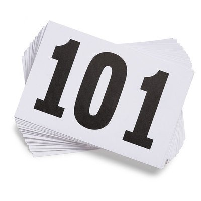 Gill Athletics Competitor's Number Paper Tags (Set of 100), 001-100 (Running Numbers compare prices)