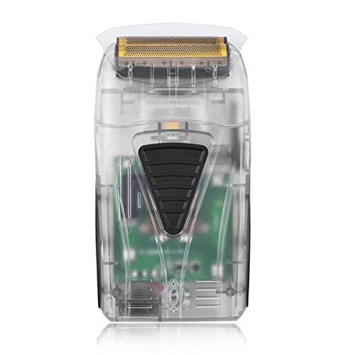Rasoir Electrique Homme, BESTBOMG 2 En1 Tondeuse à Barbe, Rechargeable USB Rasoir Trimmer Kit, secs & humides Rasoir cheveux Tondeuse à Cheveux/Rasoir tête chauve (Transparent)