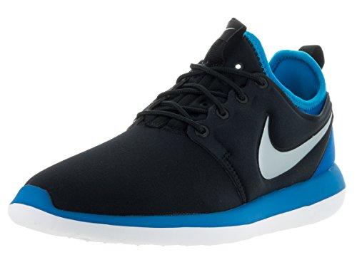 Nike Mens Roshe Two (gs) Scarpe Da Corsa Nere (nero (nero / Platino-foto Mtlc Blu))