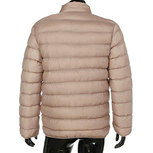 Uomo Cappotto Zip Outwear Giacca Tops Invernale Parka Lungo Piumino SWx1T57n b047e08b07d