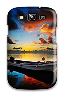 High Impact Dirt/shock Proof Case Cover For Galaxy S3 (boat)