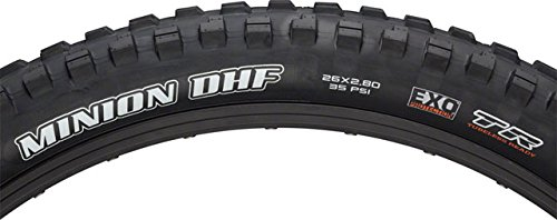 Maxxis Minion DHF 26 x 2.8 Tire 60tpi Dual Compound EXO Casing Tubeless by Maxxis