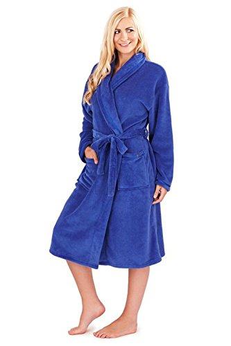 Blu Loungeable Vestaglia Pile Lungo Boutique Morbido Vestaglia Donna xp0qBIB