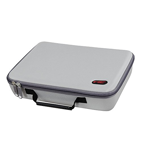 Hermitshell Extra Large Hard EVA Travel Case Fits C. A. H. Card Game, Fits The Main Game Space for 1950 Cards. - Card Game Sold Separately. Silver