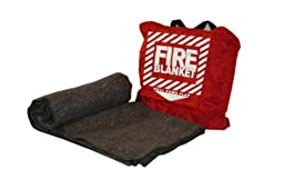 Pac-Kit by First Aid Only 21-650 Woolen Fire Blanket in Nylon Pouch