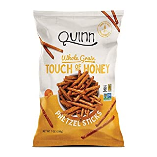 Quinn Non-GMO and Gluten Free Pretzels, Touch of Honey, 7 Ounce (1 Count)