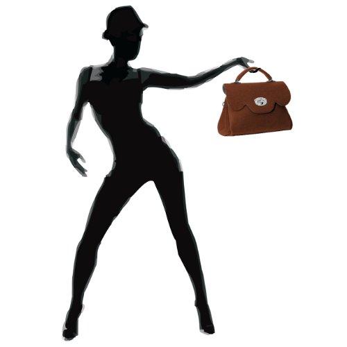 Fashion Marrone Mano Caspar Donna Borsa A RT7Bwdq