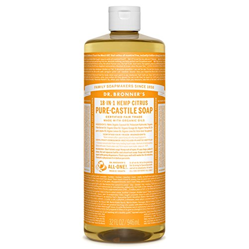 Dr. Bronner's Pure-Castille Liquid Soap - Citrus, 32 - Orange Soap