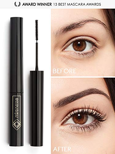 Mirenesse Cosmetics Lash Whip Secret Weapon 24hr Tightline Mascara with Micro Brush - Black. Unique brush tightlines even short, sparse, straight lashes from root to tip including bottom lashes.