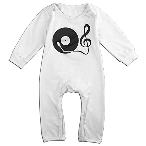Price comparison product image Record Player Baby Romper Jumpsuit Playsuit Outfits White 12 Months