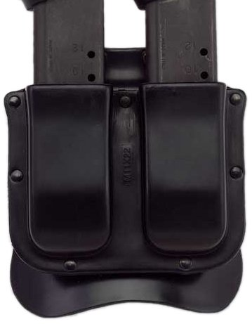 Galco M11X Matrix Double Mag Case for 9mm, .40, .357 Sig Staggered Metal Magazines (Black, Ambi) (Magazine Galco Case Double)