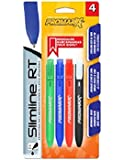 Promarx Colored Ink Ballpoint Retractable Pens, 1.0 mm, 4 Colors Per Pack, Contains 12 Packs of 4 Pens Per Box