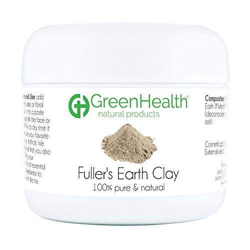 Fuller's Earth Clay Powder 1.5 oz - 100% Pure & Natural by GreenHealth