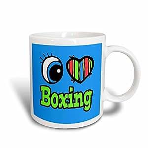 Dooni Designs Eye Heart I Love Designs - Bright Eye Heart I Love Boxing - 11oz Mug (mug_105898_1)