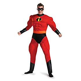 Mr. Incredible Deluxe Muscle Adult Costume 41ok 2B6Ac15L