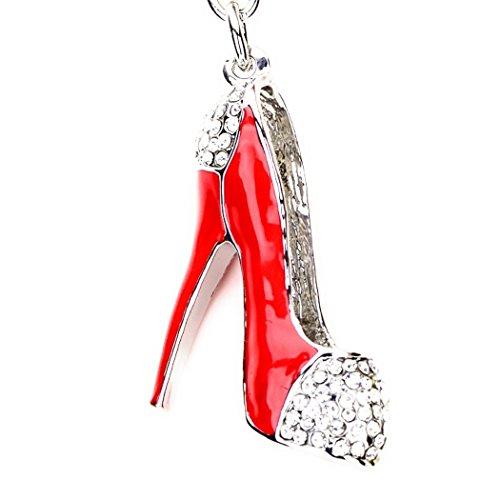 Lilly Rocket Oversized Heel Shoe Pump Bling Swarovski Rhinestone Crystal Charm Pendant Purse Bag Key Ring Chain from Lilly Rocket
