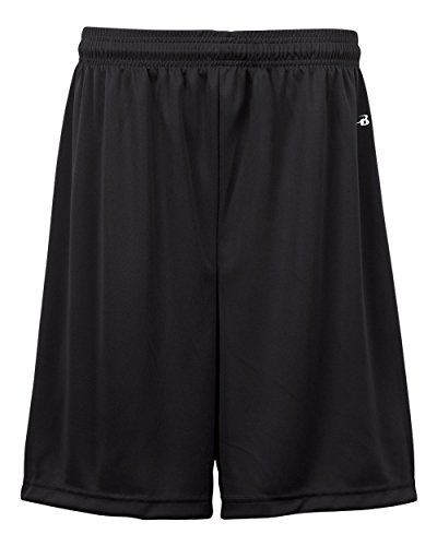Black Adult Small (Blank) Moisture Management Athletic Sports Shorts -