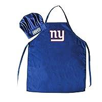 Conjunto de gorro y delantal de chef de Nueva York Giants de Nueva York, azul marino, talla única