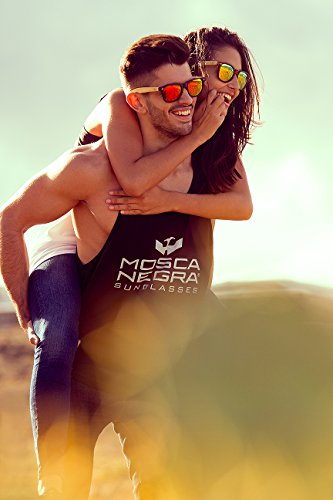 Gafas Sunglasses Leopard Negra Wood de Mix Modelo Mosca Madera 8q8fr