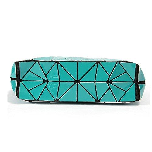 Elaborazione Sacchetto Di Diagonale Elegante Geometrico Dell'unità Brevetto Haoxiaozi Piegato Rombico Spalla Lakeblue EwTEYq