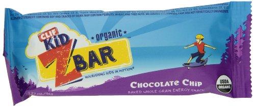 Clif Kid ZBar, Brisures de chocolat bio, 18 comte