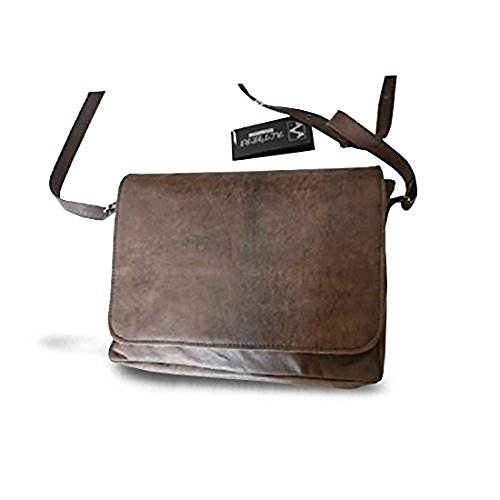 Borsello a tracolla in pelle uomo messenger 29LX24HX5 cm Mod gio medium brown
