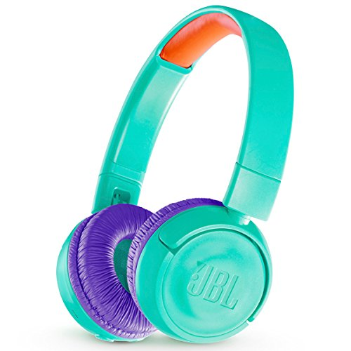 JBL JR 300BT Kids On-Ear Wireless Headphones with Safe Sound Technology (Teal)