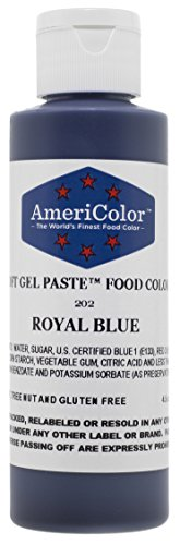 Americolor Soft Gel Paste Food Color, 4.5-Ounce, Royal Blue