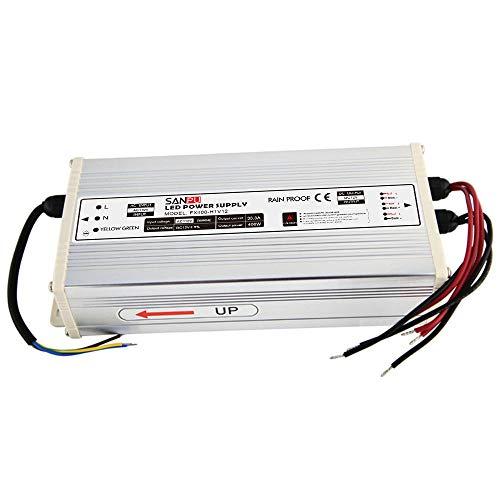 JMWaaBong Switch Mode Power Supply 400W 12V 33A Constant Voltage LED Driver 12VDC Rainproof Outdoor 110V AC to DC 12 Volt Transformer Converter (FX400-H1V12) ()