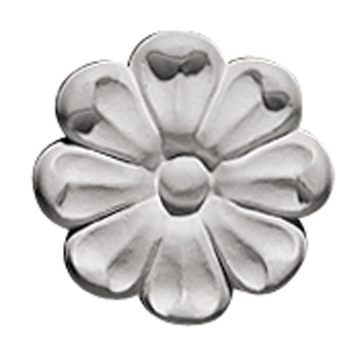 Focal Point 85001 Periwinkle Rosette 3 1/8-Inch Diameter by 5/8-Inch Projection, Primed White, 4-Pack (Rosette Pine)