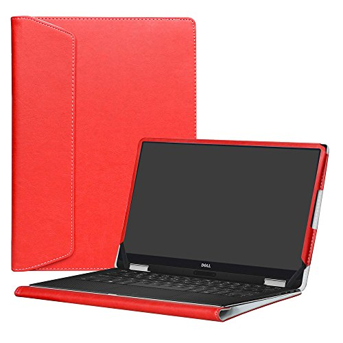 Alapmk Protective Case Cover For 13.3 Dell XPS 13 9370 9360 9350 9343/XPS 13 2 in 1 9365 Laptop(Warning:Not fit xps 13 9333 L321X L322X),Red