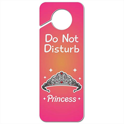 Hanger Door Princess (GRAPHICS & MORE Princess Crown Tiara Pink Background Do Not Disturb Plastic Door Knob Hanger Sign)